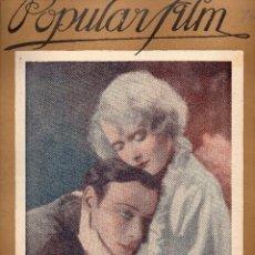 Cine: POPULAR FILM Nº 74 - 29 DICIEMBRE 1927. Lote 107740195