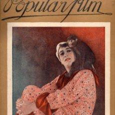 Cine: POPULAR FILM Nº 73 - 22 DICIEMBRE 1927. Lote 107740235