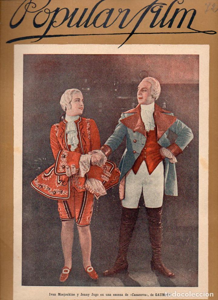 POPULAR FILM Nº 72 - 15 DICIEMBRE 1927 (Cine - Revistas - Popular film)