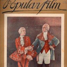 Cine: POPULAR FILM Nº 72 - 15 DICIEMBRE 1927. Lote 107740255