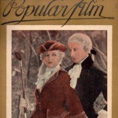 Cine: POPULAR FILM Nº 69 - 24 NOVIEMBRE 1927. Lote 107740331