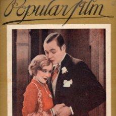 Cine: POPULAR FILM Nº 65 - 27 OCTUBRE 1927. Lote 107740551
