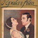 Cine: POPULAR FILM Nº 64 - 20 OCTUBRE 1927. Lote 107740659