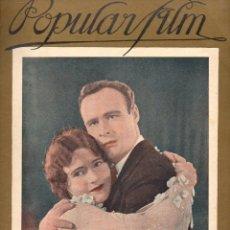 Cine: POPULAR FILM Nº 58 - 8 SEPTIEMBRE 1927. Lote 107741063