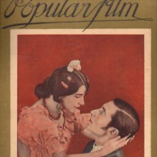 Cine: POPULAR FILM Nº 53 - 4 AGOSTO 1927. Lote 107742659