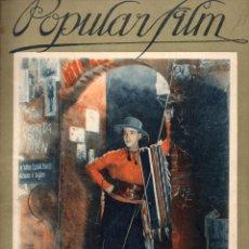 Cine: POPULAR FILM Nº 11 EXTRA - 14 OCTUBRE 1926 - RODOLFO VALENTINO. Lote 107743587