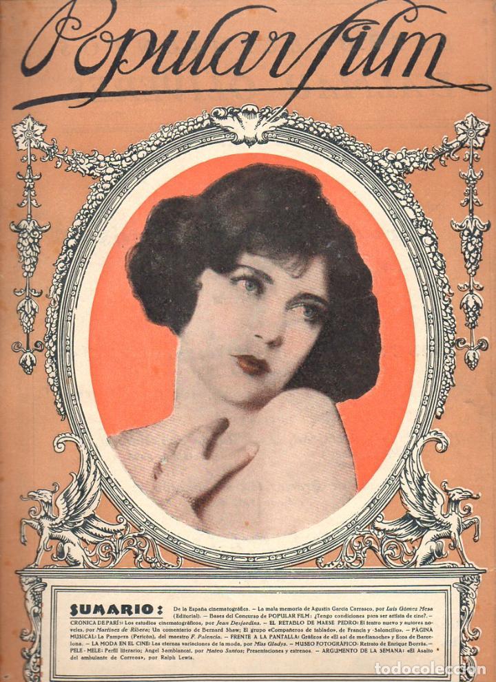 POPULAR FILM Nº 9 - 30 SEPTIEMBRE 1926 (Cine - Revistas - Popular film)