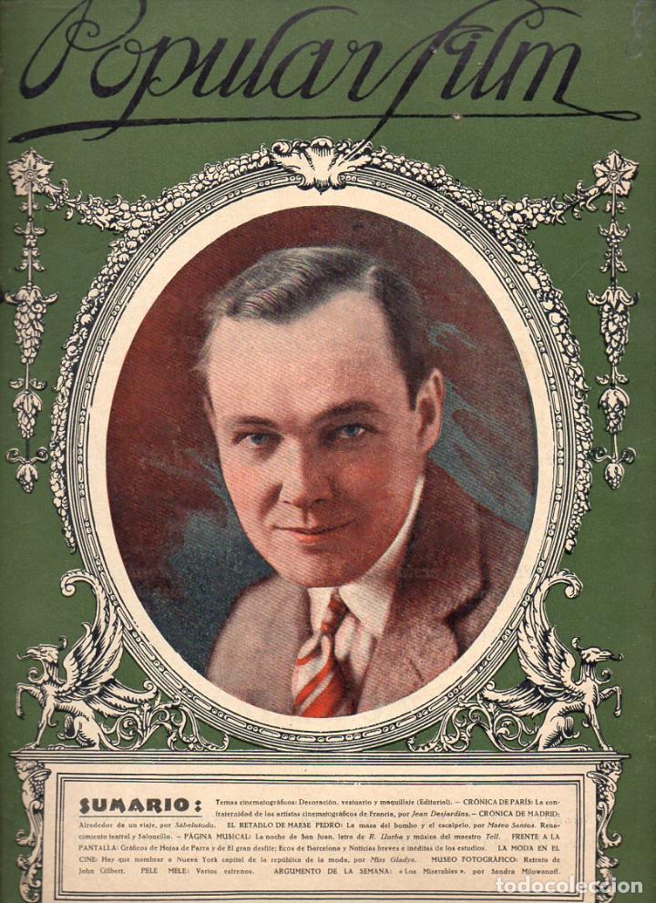 POPULAR FILM Nº 8 - 24 SEPTIEMBRE 1926 (Cine - Revistas - Popular film)
