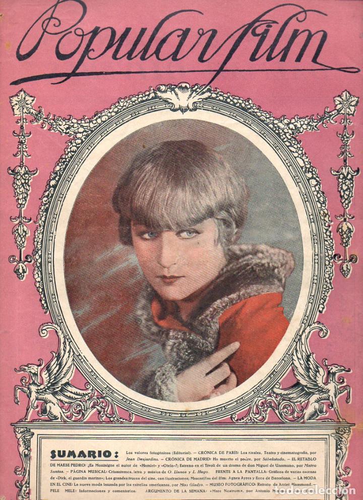 POPULAR FILM Nº 7 - 16 SEPTIEMBRE 1926 (Cine - Revistas - Popular film)
