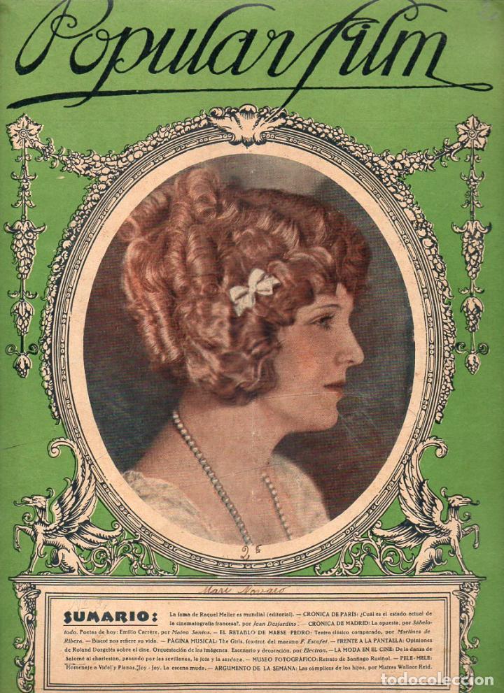 POPULAR FILM Nº 2 - 12 AGOSTO 1926 (Cine - Revistas - Popular film)