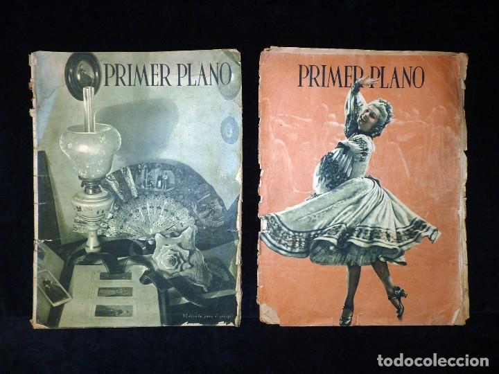 LOTE DE 2 REVISTAS PRIMER PLANO. SEMANARIO ESPAÑOL DE CINEMATOGRAFÍA. AÑO 1942. CINE. Nº 81 Y 83 (Cine - Revistas - Primer plano)