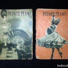Cine: LOTE DE 2 REVISTAS PRIMER PLANO. SEMANARIO ESPAÑOL DE CINEMATOGRAFÍA. AÑO 1942. CINE. Nº 81 Y 83. Lote 107948451