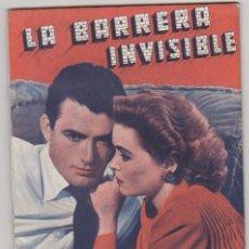 Cinéma: LA BARRERA INVISIBLE. EDICIONES BISTAGNE. 72 PÁGINAS CON FOGRAFÍAS. SIN ABRIR... Lote 107976119