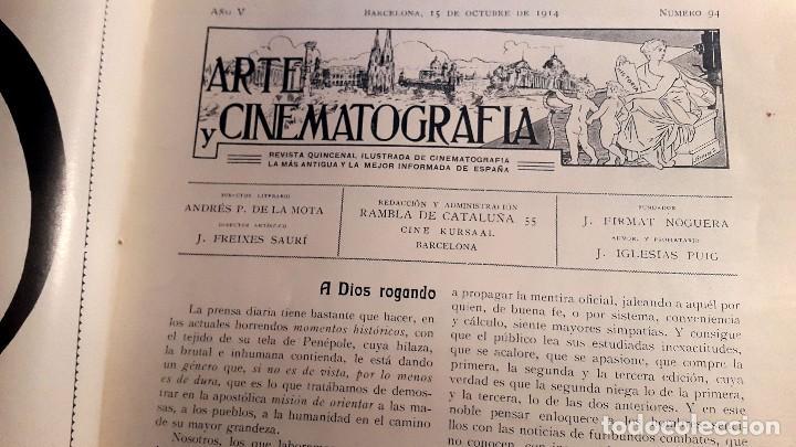 ARTE Y CINEMATOGRAFIA - 1914 - CINE MUDO - Nº 94 (Cine - Revistas - Otros)
