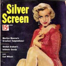 Cine: SILVER SCREEN REVISTA - PORTADA MARILYN MONROE (Nª 6 AÑO 1954). Lote 108445791
