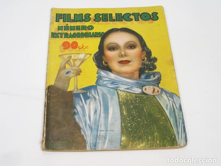 NÚMERO EXTRAORDINARIO DE LA REVISTA DE CINE FILMS SELECTOS. OCTUBRE DE 1934 (Cine - Revistas - Films selectos)