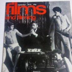 Cine: LOTE DE 3 REVISTAS DE FILM AND FILMING. 1975-1976-1977. Lote 108674611