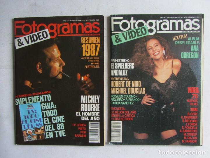 Cine: FOTOGRAMAS 1988 LOTE DE 11 REVISTAS, TODAS LAS DEL AÑO, DESDE LA Nº 1737 A LA Nº 1747 - Foto 2 - 108801267