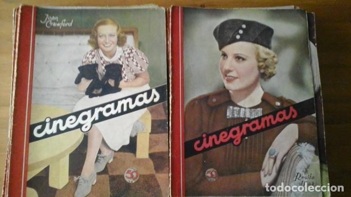 Cine: Lote de 63 revistas CINEGRAMAS n°11 al 93. Numeros sueltos. Año 1934-1936 - Foto 2 - 109239335