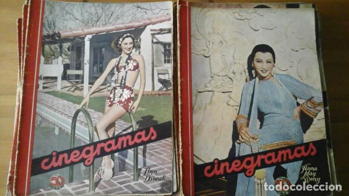 Cine: Lote de 63 revistas CINEGRAMAS n°11 al 93. Numeros sueltos. Año 1934-1936 - Foto 5 - 109239335