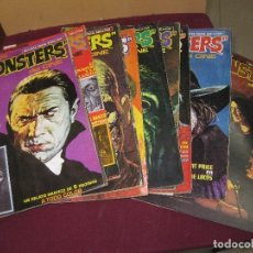 Cine: FAMOSOS MONSTERS DEL CINE. Nº 1 - 2 - 3 - 4 - 5 - 6 - 8 - 10 - 11. EDITORIAL GARBO 1975.. Lote 109257127