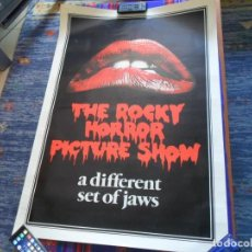 Cine: CARTEL THE ROCKY HORROR PICTURE SHOW. A DIFFERENT SET OF JAWS. 100X70 CMS. BUEN ESTADO.. Lote 109277155