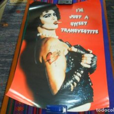 Cine: CARTEL THE ROCKY HORROR PICTURE SHOW. I'M JUST A SWEET TRANSVESTITE. 86X61 CMS. BE. . Lote 109277799
