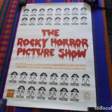 Cine: CARTEL THE ROCKY HORROR PICTURE SHOW DE FNAC Y DIORAMA. 63X44 CMS. BUEN ESTADO Y RARO.. Lote 109278095