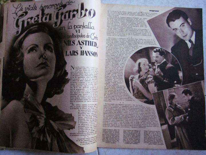 Cine: 5 Revistas Cinegramas Greta Garbo, Shirley Temple, Ginger Rogers, Imperio Argentina,Claudette Colber - Foto 4 - 109369959