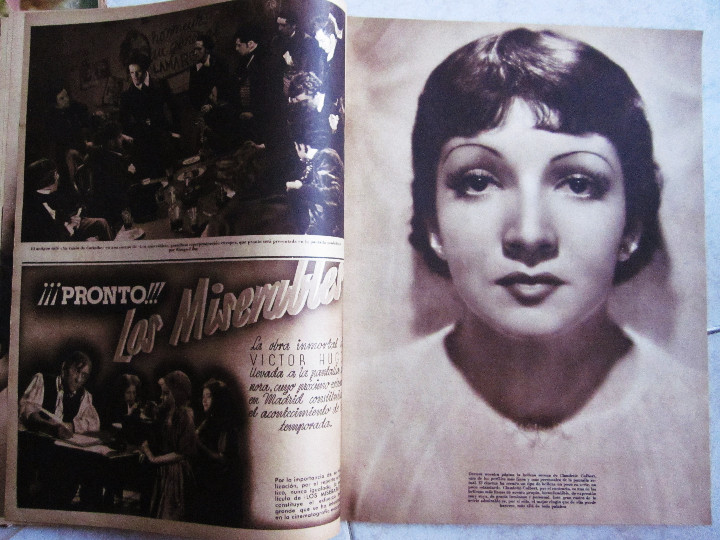 Cine: 5 Revistas Cinegramas Greta Garbo, Shirley Temple, Ginger Rogers, Imperio Argentina,Claudette Colber - Foto 5 - 109369959