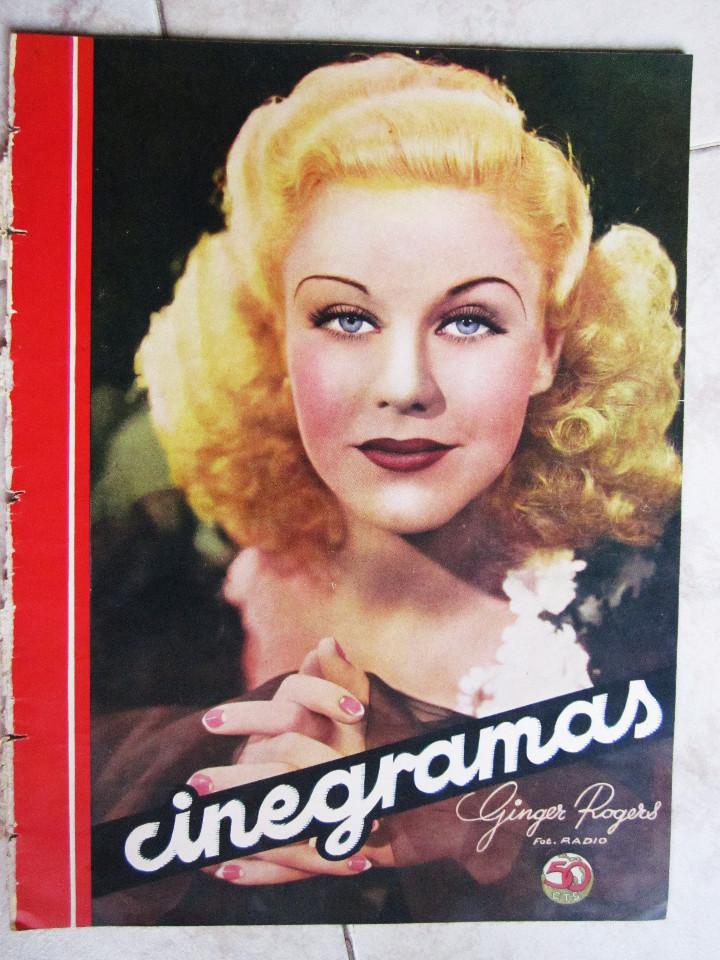 Cine: 5 Revistas Cinegramas Greta Garbo, Shirley Temple, Ginger Rogers, Imperio Argentina,Claudette Colber - Foto 10 - 109369959