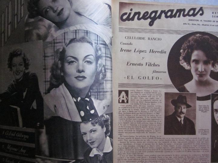 Cine: 5 Revistas Cinegramas Greta Garbo, Shirley Temple, Ginger Rogers, Imperio Argentina,Claudette Colber - Foto 11 - 109369959