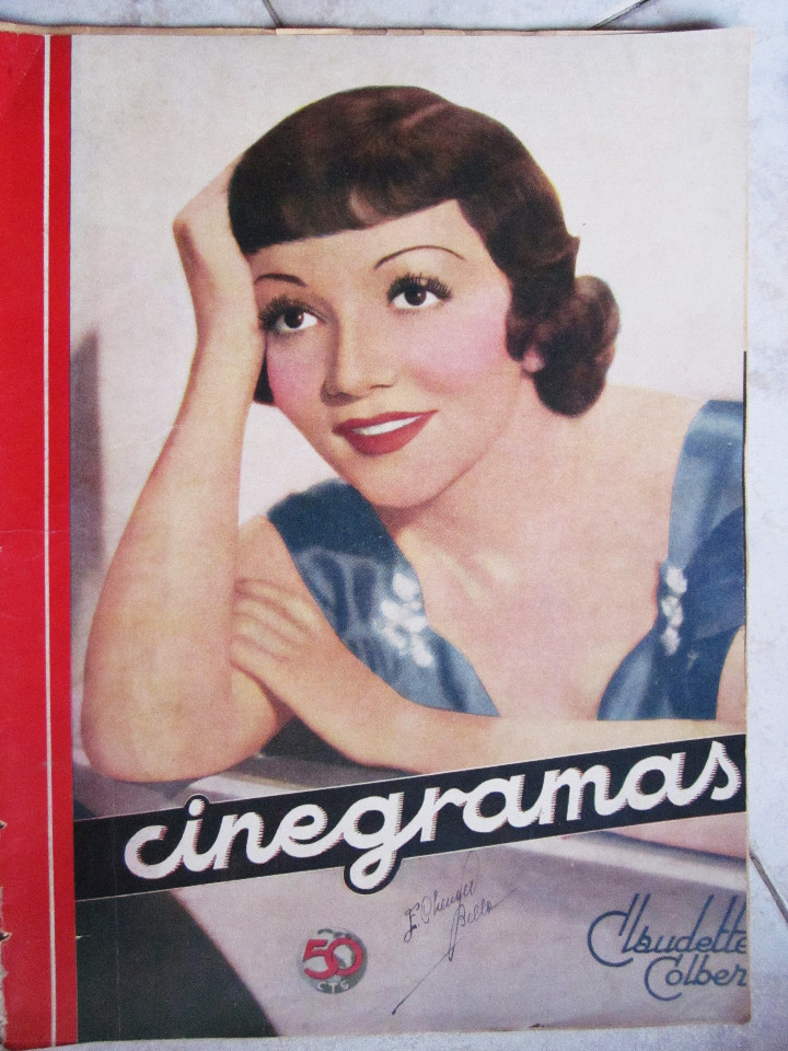 Cine: 5 Revistas Cinegramas Greta Garbo, Shirley Temple, Ginger Rogers, Imperio Argentina,Claudette Colber - Foto 14 - 109369959