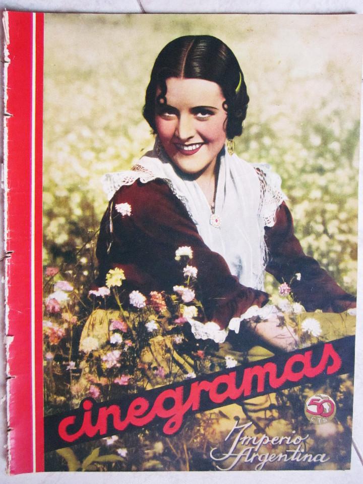 Cine: 5 Revistas Cinegramas Greta Garbo, Shirley Temple, Ginger Rogers, Imperio Argentina,Claudette Colber - Foto 15 - 109369959