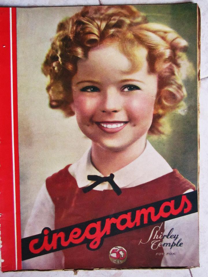 Cine: 5 Revistas Cinegramas Greta Garbo, Shirley Temple, Ginger Rogers, Imperio Argentina,Claudette Colber - Foto 16 - 109369959