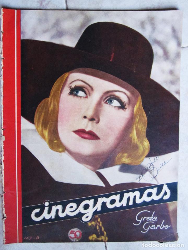 Cine: 5 Revistas Cinegramas Greta Garbo, Shirley Temple, Ginger Rogers, Imperio Argentina,Claudette Colber - Foto 2 - 109369959