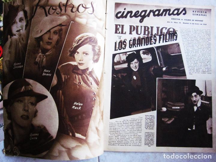 Cine: 5 Revistas Cinegramas Greta Garbo, Shirley Temple, Ginger Rogers, Imperio Argentina,Claudette Colber - Foto 3 - 109369959