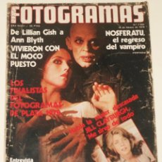 Cine: FOTOGRAMAS #1583 1979 NOSFERATU KLAUS KINSKI ISABELLE ADJANI JILL CLAYBURGH BLANCA ESTRADA. Lote 109415331