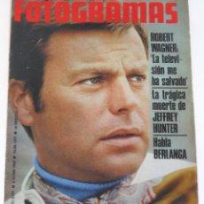 Cine: FOTOGRAMAS #1077 1969 ROBERT WAGNER BERLANGA JEFFREY HUNTER CATHERINE DENEUVE BERLANGA MICK JAGGER. Lote 109415363