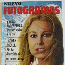 Cine: FOTOGRAMAS 1969 LAURA VALENZUELA LAUREN BACALL RAVI SHANKAR MIGUEL RIOS LIZA MINNELLI DALIAH LAVI. Lote 109415435