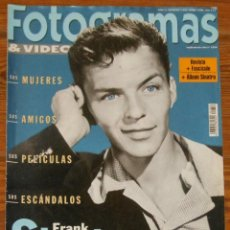 Cine: FOTOGRAMAS 1998 FRANK SINATRA ESPECIAL TRIBUTE ISSUE SPANISH MAGAZINE REVISTA. Lote 109415447
