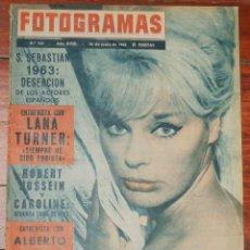 Cine: FOTOGRAMAS #760 1963 ELKE SOMMER LANA TURNER ALBERTO SORDI ROBERT HOSSEIN LEA MASSARI REVISTA. Lote 109415479