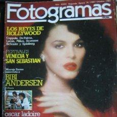 Cine: FOTOGRAMAS Nº 1667 - 1981 - BIBI ANDERSEN, LOUIS MALLE, ATMÓSFERA CERO, OSCAR LADOIRE. Lote 109462907