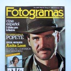 Cine: FOTOGRAMAS Nº 1668 NOVIEMBRE 1981 - HARRISON FORD (PORT.) MIGUEL BOSE AVA GARDNER ANITA LOOS . Lote 109463583