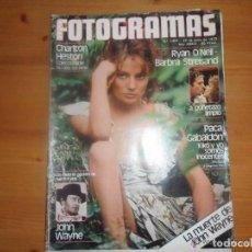 Cine: FOTOGRAMAS 1601-1979-PACA GABALDON-CHARLTON HESTON-JOHN WAYNE-LA TRINCA-BARBRA STREISAND-IAN DURY. Lote 109463995