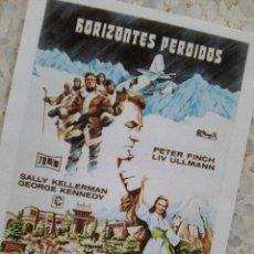 Cine: HORIZONTES PERDIDOS .. DE ROSS HUNTER - GUIA DE MANO CARATULA CREEMOS REPRO - . Lote 109537339
