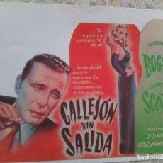 Cine: CALLEJON SIN SALIDA .. DE JOHN CROMWELL - GUIA DE MANO CARATULA CREEMOS REPRO - . Lote 109537683