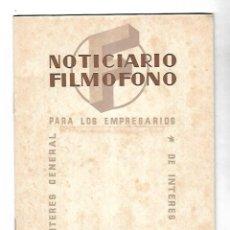Cinema: NOTICIARIO FILMOFONO. DE INTERES GENERAL PARA LOS EMPRESARIOS. 1944. LEER. Lote 110285815