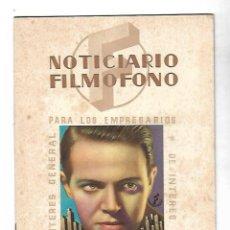 Cine: NOTICIARIO FILMOFONO. DE INTERES GENERAL PARA LOS EMPRESARIOS. 1944. LEER. Lote 110286071