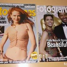 Cine: FOTOGRAMAS Nº 1902 NICOLE KIDMAN SUPLEMENTO OSCAR 2001 SEÑOR ANILLOS 2 MINORITY REPORT. Lote 110751843
